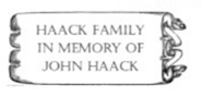 Haack Family in Memory of John Haack